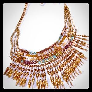 Jewelry - Gorgeous Tribal Layered Necklace With earrings